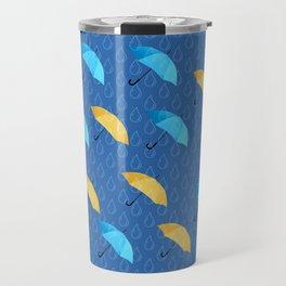 Spring Umbrellas fresh pattern Travel Mug