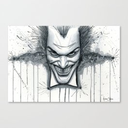 Crazy - Ode to The Joker Canvas Print
