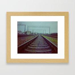 Railroad. Russia. Framed Art Print