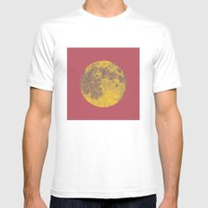 Chinese Mid-Autumn Festival Moon Cake Print White MEDIUM Mens Fitted Tee