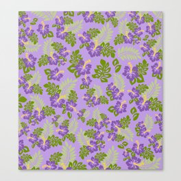 Hawaiian Pattern - Purple Canvas Print