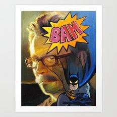 Bam! Batmannn Art Print