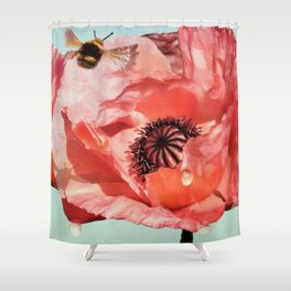 Poppiesfor the Queen III Shower Curtain