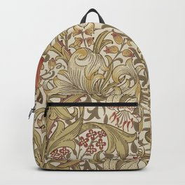 William Morris Golden Lily John Henry Dearle Backpack