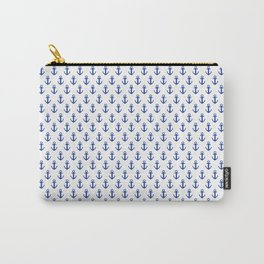 White Anchor Pattern 1 Carry-All Pouch