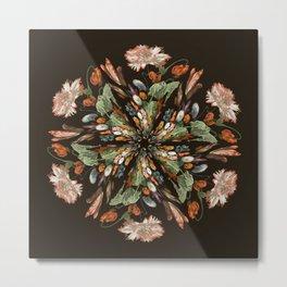Flemish Floral Mandala 3 Metal Print