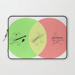 Keytar Platypus Venn Diagram - GYR Laptop Sleeve