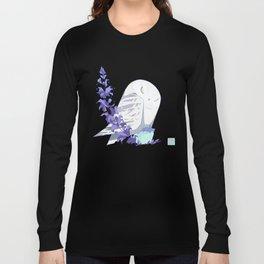 Angry Owl: Snow Owl Long Sleeve T-shirt