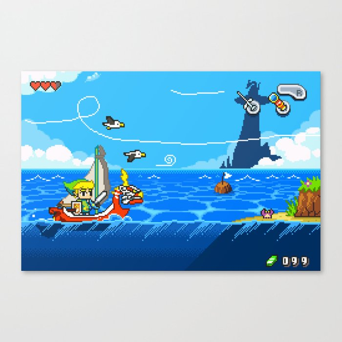 The Legend of Zelda: Wind Waker Advance Canvas Print