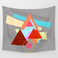triangles Wall Tapestries featuring Triangles  by haroulita