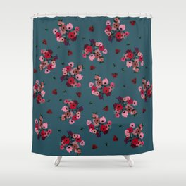 Folky Florals Shower Curtain