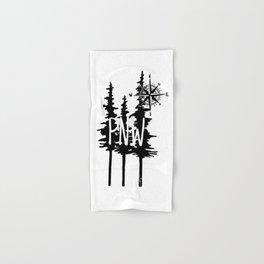 PNW Trees & Compass Hand & Bath Towel