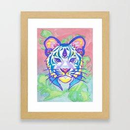 clairvoyant pastel tiger Framed Art Print