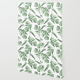 Monstera Pattern Green #society6 #buyart Wallpaper