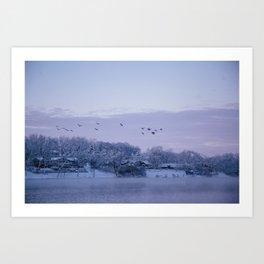 Winter in Illinois Art Print