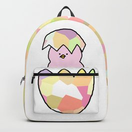 Cute Pink Baby Chick - a hatching chicken for spring and Easter Backpack