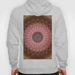 Mandala in brown and pink tones Hoody