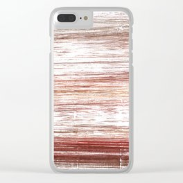 Striped watercolor Clear iPhone Case