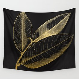 The golden leaf Wall Tapestry