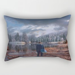 The coming of the dawn Rectangular Pillow