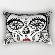 Miss Calavera Rectangular Pillow