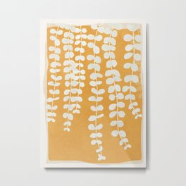 Minimal Abstract Leaves 13 Metal Print