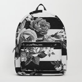 Stripes and Roses Backpack