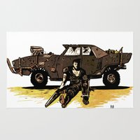 mad max Area & Throw Rugs featuring MAD MAX by Gregory Casares