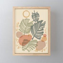 Palm & fern leaf summer Framed Mini Art Print