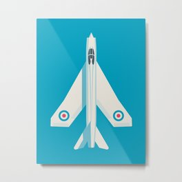 English Electric Lightning RAF Jet Fighter - Blue Metal Print