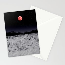 Red-lit Night Stationery Cards