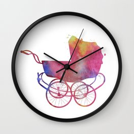 Baby carriage Wall Clock