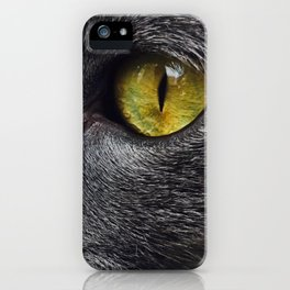 Russian Blue Cat Eyes iPhone Case