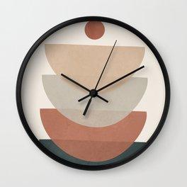 Minimal Shapes No.32 Wall Clock