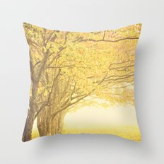 Gold season Throw Pillow