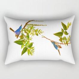 Blue Grey Flycatcher Bird Rectangular Pillow