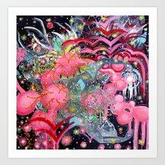 Air Bubbles Art Print