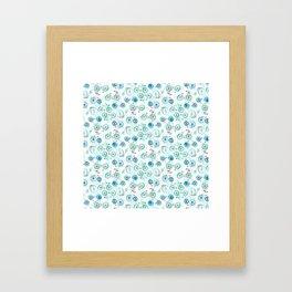 Bikes Pattern Framed Art Print