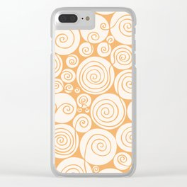 Still Waiting For Spring Bright Orange Pattern Clear iPhone Case