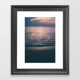 Beach Waves Detail Framed Art Print