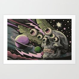 Cosmos Nightmare Art Print
