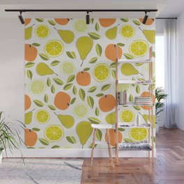Fruit Orange Pear Lime and Lemon Wall Mural