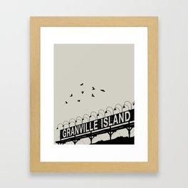Granville Flock - Graphic Birds Series, Plain - Modern Home Decor Framed Art Print