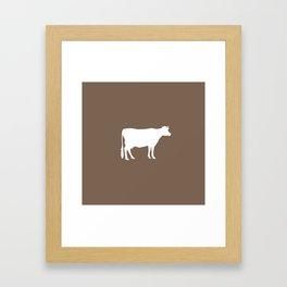 Cow: Brown Framed Art Print