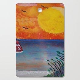 Tropical Beach Cutting Board
