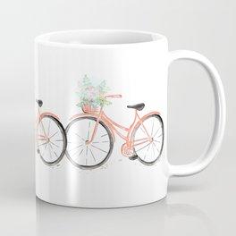 Coral Spring bicycle with flowers Coffee Mug