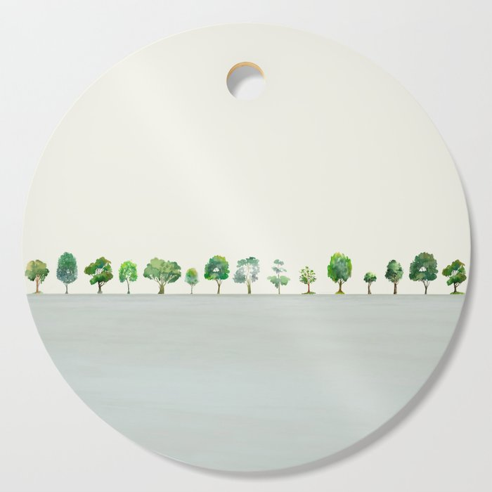A Row Of Trees Cutting Board