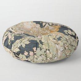 1898 - 1900 Femme a Marguerite by Alphonse Mucha Floor Pillow
