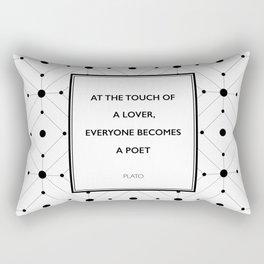 Plato - Touch of a Lover Rectangular Pillow