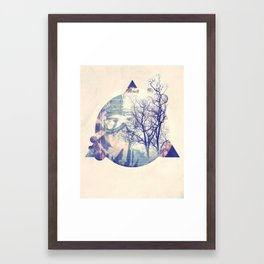 time traveler Framed Art Print